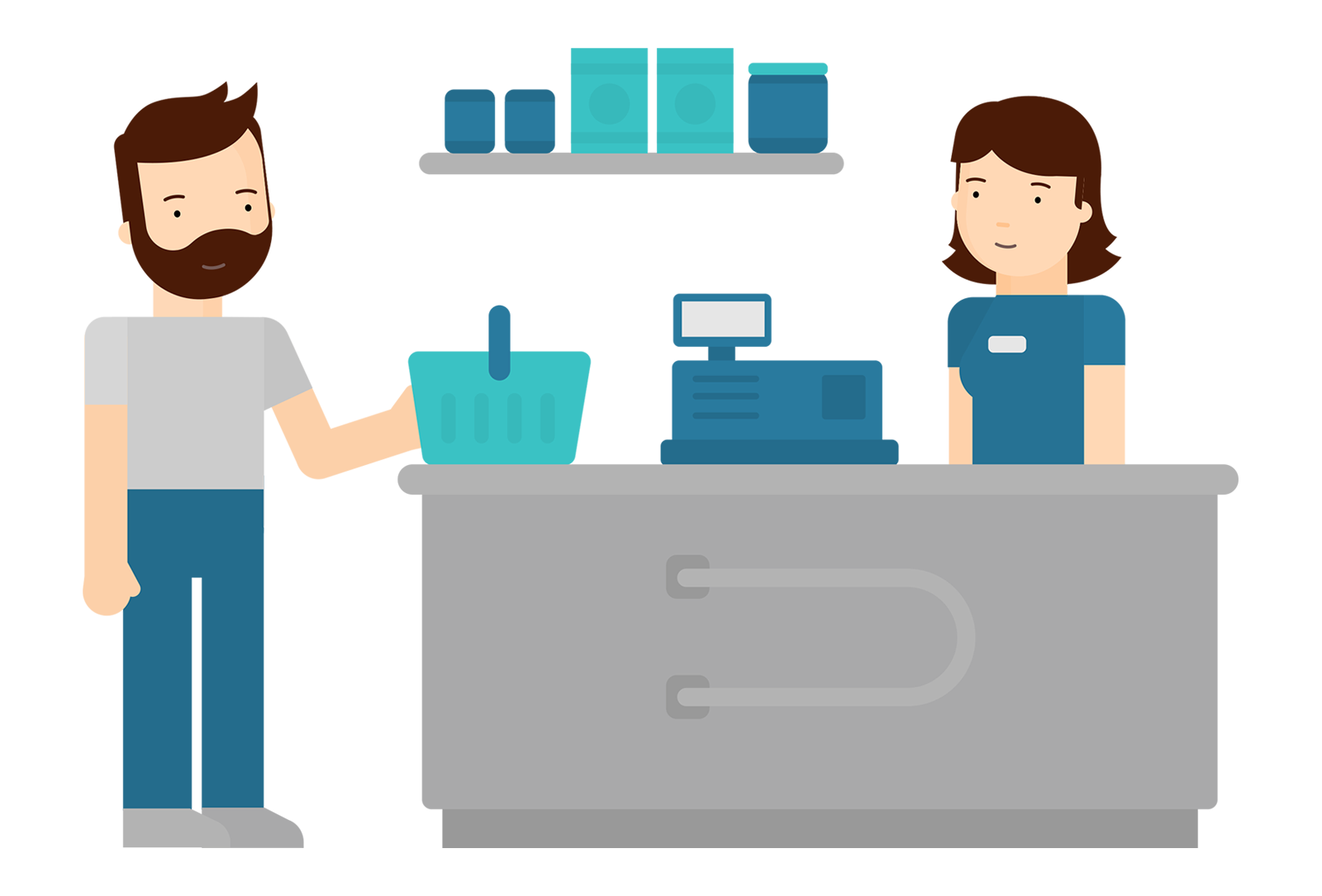 Online Employee Scheduling for Retail Stores, Shops and Supermarkets